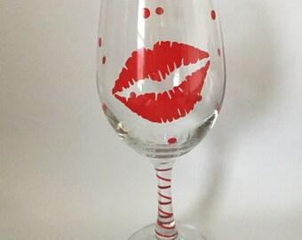 red lip valentine wine glass - Valentine Wine Glasses