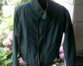 Men's Vintage Casual Green Jacket, size Med., by London Fog, Men's Fall Jacket M,