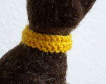 Dachshund, felted dog, felted animal, felted sculpture, needle felted, doglove, felted, pet