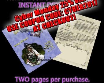 Borage Herbal Book Of Shadows, Herbal Witchcraft Information, Herbal Correspondences, Herbal Spells, Digital Download Herbal BOS pages