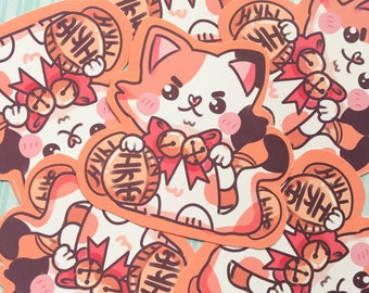 Maneki Neko Lucky Sticker
