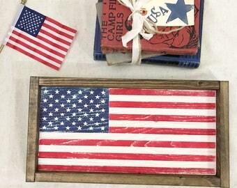 American Flag Sign / American Flag/ Flag Sign / Framed American Flag Sign / Flag / Framed Flag Sign