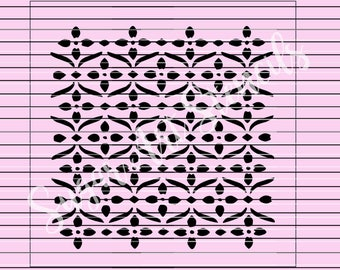 Lace stencil pattern background 5.5 x 5.5  MC036