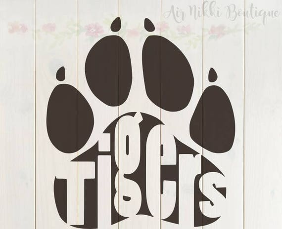 instant PNG Tiger files DXF download Paw Print SVG