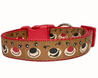 Reindeer Rudolph Christmas Classic Winter Dog Collar Christmas Present Dog Gift