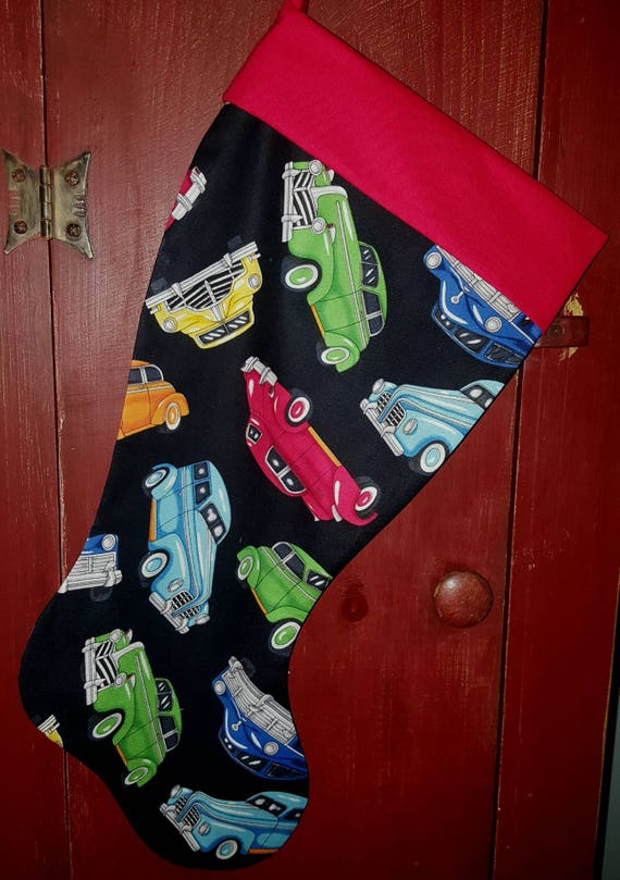 Antique Cars Christmas Stocking