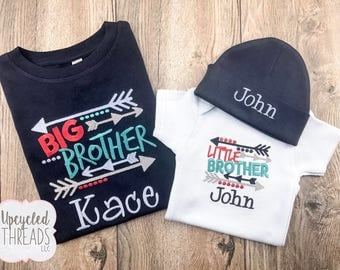 Big Brother Little Brother Set, Big Brother Shirt, Little Brother Shirt, Baby Shower Gift, Big Brother Set, Big Sister Little Sister Set