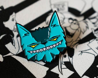 Cat Pin, Alice in Wonderland Pins, Cheshire Cat Limited Edition,Soft Enamel, Lapel Badge, Grin, Love Kittens, Animal Lover, catpin