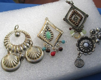 Lot Of Vintage Dangling Salvaged Pendants