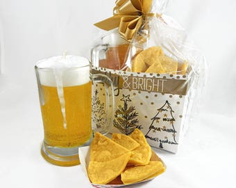 Beer Candle & Nacho Soap Gift Set