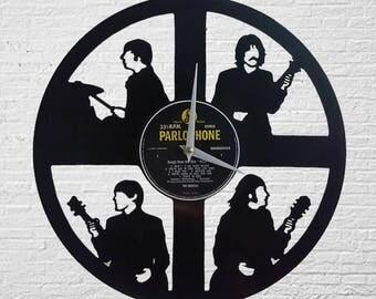 The Beatles Vinyl Record Wall Clock