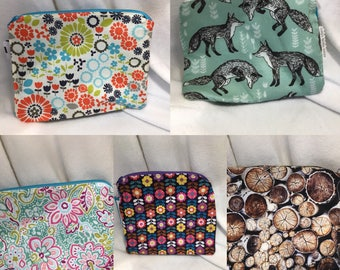 Medium Waterproof Zipper Pouch Wet Bag - many prints available!