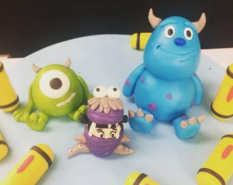 Monster's Inc Cake Toppers