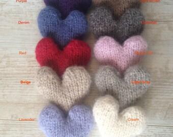 Stuffed Heart Prop/ Mini Heart Stuffie/ Newborn Stuffed Mini Posing Heart/ Photo Prop Heart/ Newborn Mini Props/ Mini Stuffed Hearts/ Props