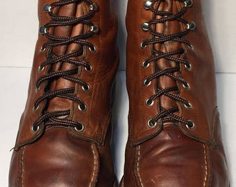 Red Wing® Classic Moc Brown  Leather Work boots Men's Size 11