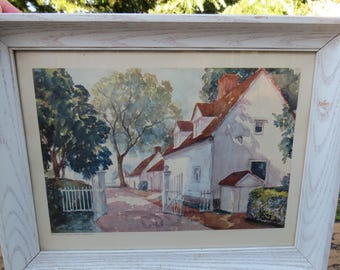 Mount Vernon Prints Framed Pair 1937 & 1963