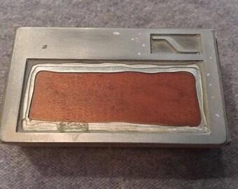 Vintage Letterpress Printers Block S Border Box Header Banner Business Card Type