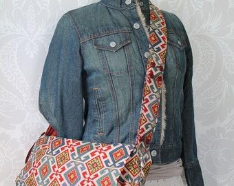 Messenger bag with adjustable strap, Convertible stroller bag, Laptop Bag with pockets