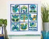 Primavera - Satsuma Street spring sampler - modern folk cross stitch pattern - Instant download PDF