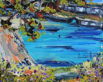 California Art, Beach Painting, Big sur, Carmel Valley, Carmel, Point Lobos, Original Oil, Painting, Landscape Painting, Palette Knife Art