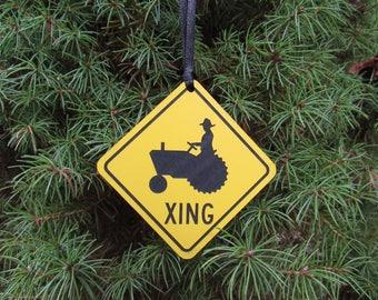 Farmer Crossing Ornament