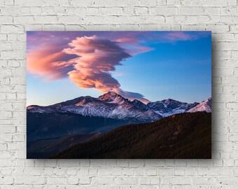 Longs Peak Canvas, Colorado Canvas, Rocky Mountain Canvas, Mountain Canvas, RMNP Canvas, Longs Peak Wall Art, Longs Peak Artwork, Longs Peak
