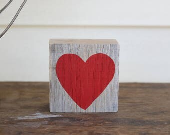 Wood Heart Sign, wood heart decor, heart wood sign, love sign, rustic shelf decor, heart shelf decor, tabletop decor, mothers day gift,