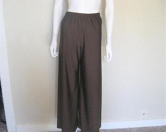 ON SALE vintage brown wide leg high waist pants