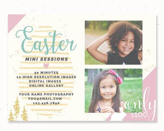 Easter Mini Session Template, Easter Marketing Board, Photography Marketing Template, Easter Template Photography, Easter Photography, m202e