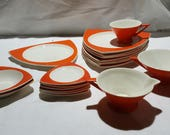 14 Pieces Salem China Tricorne Mandarin - Sold as a lot or by the piece