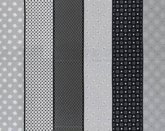 Moda Jen Kingwell Lollies Sweetie Black Grey Stripe 18130-18 Multi Fabric BTY 1 yd