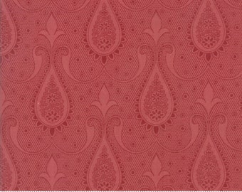 Moda Sweet Blend Rosemary Red Pink Fleur Laundry Basket Quilts  Edyta Sitar 42293-16 BTY