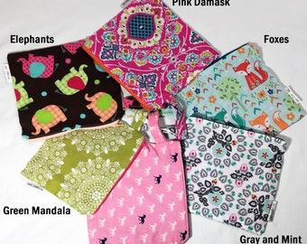 Reusable Snack Bag // Zippered Bag // Snack Pouch // Sandwich Bag