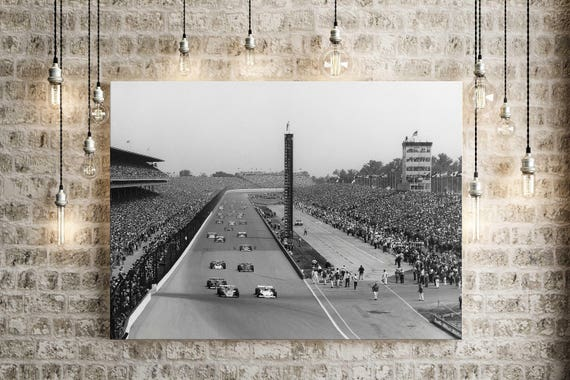 1972 Indianapolis Motor Speedway race car photo Indianapolis 500 Mile race photo indy car race track photograph race fan gift item