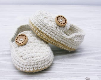 Baby loafers, crochet loafers, casual loafers, beige loafers, newborn 0-3 3-6 stone beige boots baby shoes gift present BB302