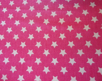 fabric stars pink and white 50 * 70 cm