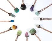 Birthstone Necklace   Birthstone Jewelry   Raw Crystal Necklace   Raw Birthstone Jewelry   Alternative Birthstones   Birth month jewelry