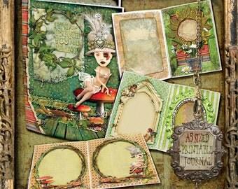 Printable Journal,  Journal Pages, Junk Journal, Digital Journal Kit, Altered art kit, Vintage Journal