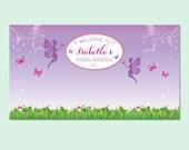Garden Fairy Printable Backdrop, Garden Party Backdrop, Girls Party Backdrop, Birthday Party Backdrop, 1st Birthday Party Backdrop