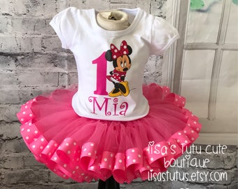 minnie mouse birthday outfit, minnie mouse birthday, minnie mouse birthday shirt, pink minnie mouse tutu, pink tutu, minnie mouse tutu