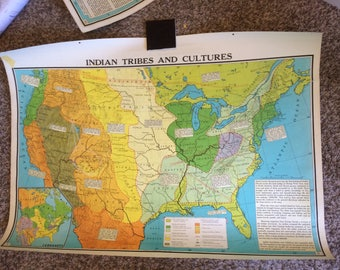 Indian Tribes Etsy - Us tribes map
