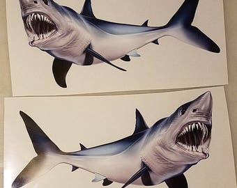High resolution Mako Shark decal, Mako Shark, Boat Graphics, Mako