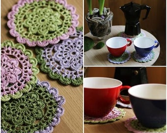 Crochet coasters,coloreful coasters,table decor,coffee tabel decoration,coaster,home decor,natural gift idea,home decoration,home accessorie
