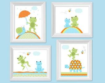 Baby Boy Wall Decor frog wall decor   etsy