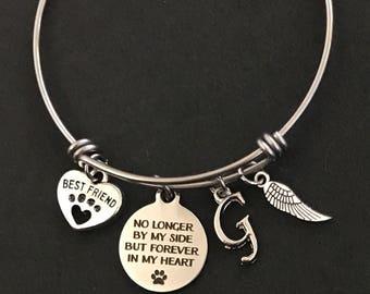 Loss of Dog Gift Personalized Dog Memorial Bangle Pet Loss Gift Pet Sympathy Gift
