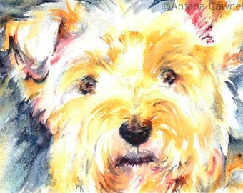 Westie - Blank Greetings Card, West Highland Terrier, Cute Dog, Animal Card, Watercolour Painting, Watercolor art, card for dog lover