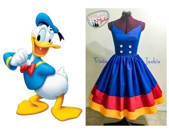 Donald Duck Inspired Disney Bound dress