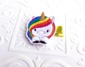 The Rainbow Unicorn Headband or Hair Clip