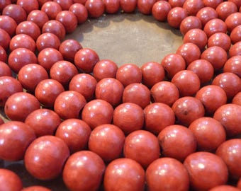 Vintage Red Wood Bead Garland Christmas Cranberry Wooden Tree Decor (#1142)