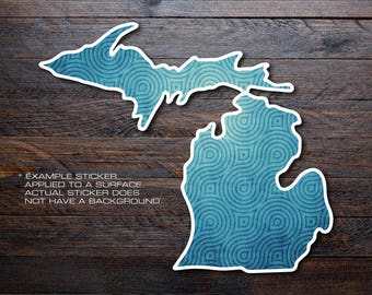 Michigan Mitten Vinyl Decal Sticker A39
